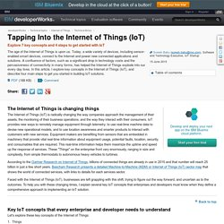 Tapping Into the Internet of Things (IoT)