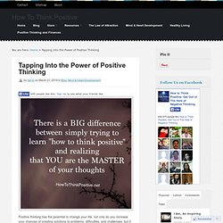 Tapping Into the Power of Positive Thinking