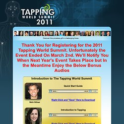 2011 Tapping World Summit