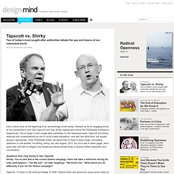 Tapscott vs. Shirky