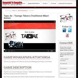 Tapu ae - Traditional Maori Game