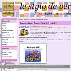 Tapuscrits sur Power Point (1ère série) - le stylo de vero