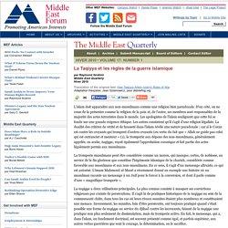La Taqiyya et les règles de la guerre islamique