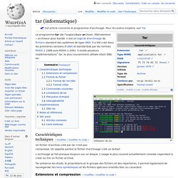 tar (informatique)
