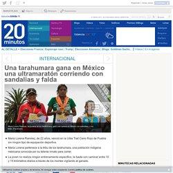 Una tarahumara gana en México una ultramaratón corriendo con sandalias y falda