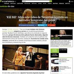 'Kill Bill': Mira este vídeo de Tarantino leyendo un borrador temprano del guion