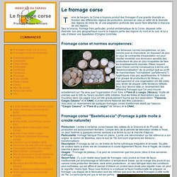 GIE du Taravu: le fromage corse, une présentation