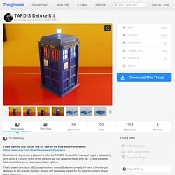 TARDIS Deluxe Kit by countspatula