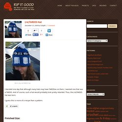 (re)TARDIS Hat « Rip It Good