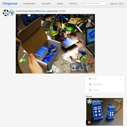 Tardis Pendant by MakersBox
