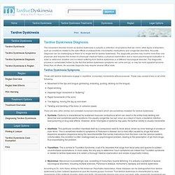 Tardive Dyskinesia Diagnosis