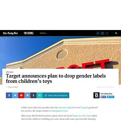 Target announces plan to drop gender labels from children's toys
