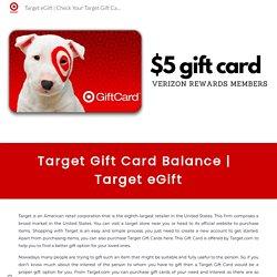 Check Your Target Gift Card Balance