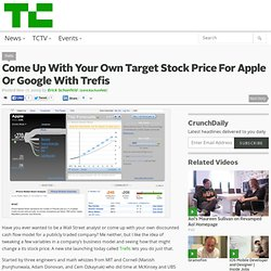 Come Up With Your Own Target Stock Price For Apple Or Google Wit