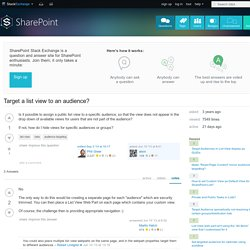 Target a list view to an audience?