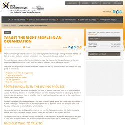 Target the right people in an organisation