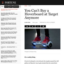Target Stops Selling Hoverboards