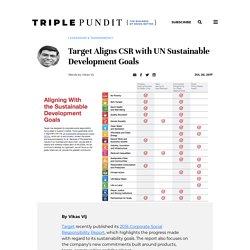 Target Aligns CSR with UN Sustainable Development Goals