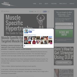 The Guide to Targeted Muscle Building - JMax Fitness