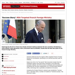 NSA Targeted French Foreign Ministry