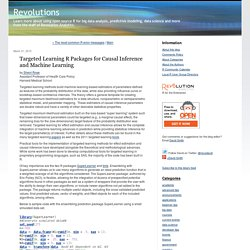 Targeted Learning R Packages for Causal Inference and Machine Learning