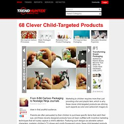 68 Clever Child-Targeted Products - From 8-Bit Cartoon Packaging to Nostalgic Ninja Journals