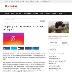 Targeting Your Customers in 2020 With Instagram – Share-Ask.