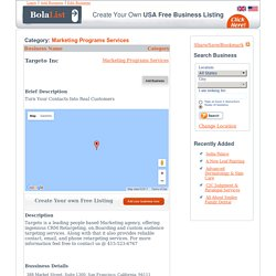 Targeto Inc, pepole based marketi CRM retargeting