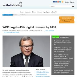 WPP targets 45% digital revenue by 2018