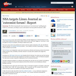 NSA targets Linux Journal as 'extremist forum': Report