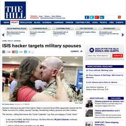 ISIS hacker targets military spouses