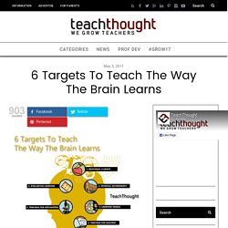 6 Targets To Teach The Way The Brain Learns