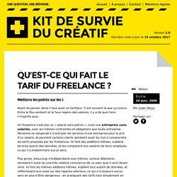 Qu'est-ce qui fait le tarif du freelance?– Kit de survie du créatif