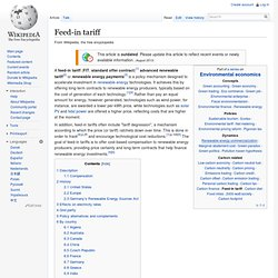 Feed-in tariff - Wikipedia
