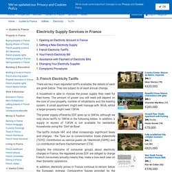 Tariffs of Electricity for French Houses, EDF Prices