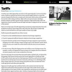 Tariffs - Encyclopedia - Business Terms
