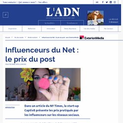tarification posts influenceurs - tarifs réseaux sociaux