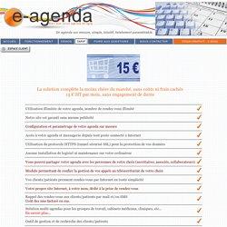 Tarifs de notre agenda partagé en ligne