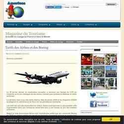 Tarifs des Airbus et des Boeing