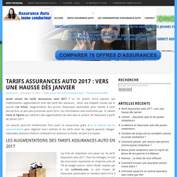 Tarifs Assurances auto 2017 : vers une hausse dès janvier