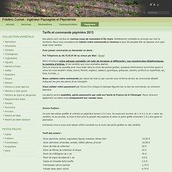 Tarifs et commande pépinière 2013