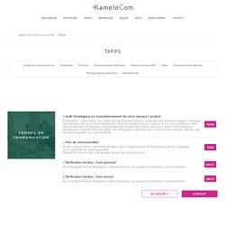 Tarifs - Kamelecom : Agence de communication / publicité à lille