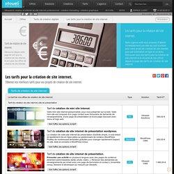 Tarifs de création de site internet, le prix pour la création de site internet.