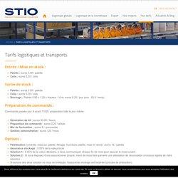 Tarifs logistique et transport