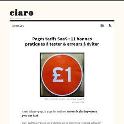 Pages tarifs SaaS : 11 bonnes pratiques ou erreurs à éviter