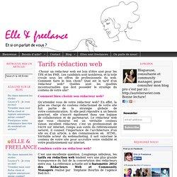 Tarifs rédaction web