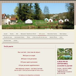 Tarifs - yourtes-ailette-aisne.com