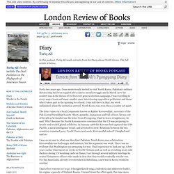 Tariq Ali · Diary: In Pyongyang · LRB 26 January 2012