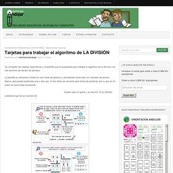 Tarjetas para trabajar el algoritmo de LA DIVISIÓN -Orientacion Andujar