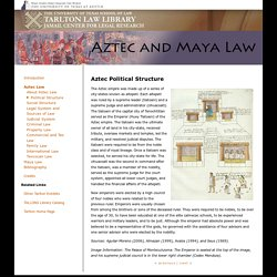 Tarlton Law Library - Aztec and Maya Law - online exhibit